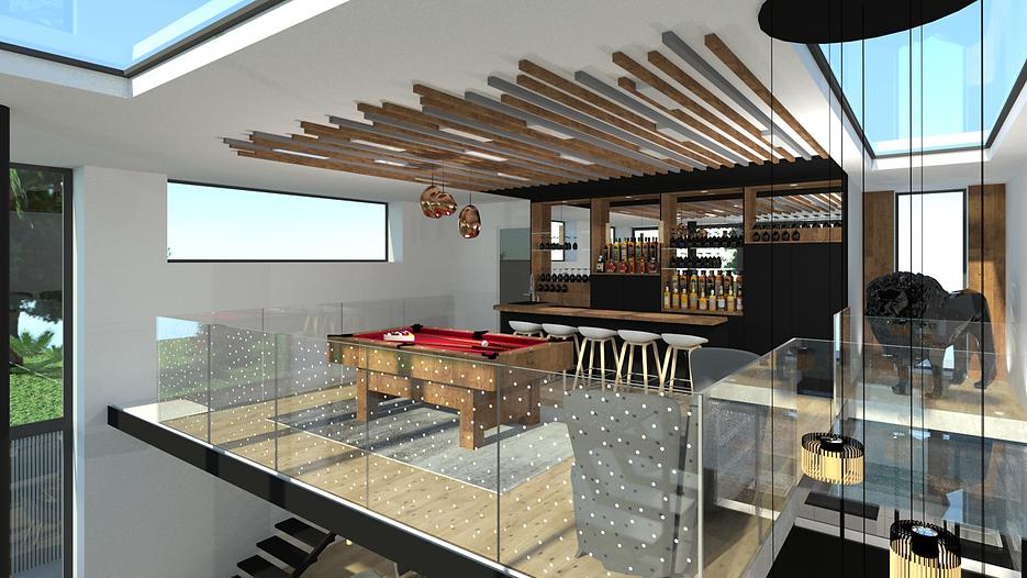 aménagement d'un bar billard