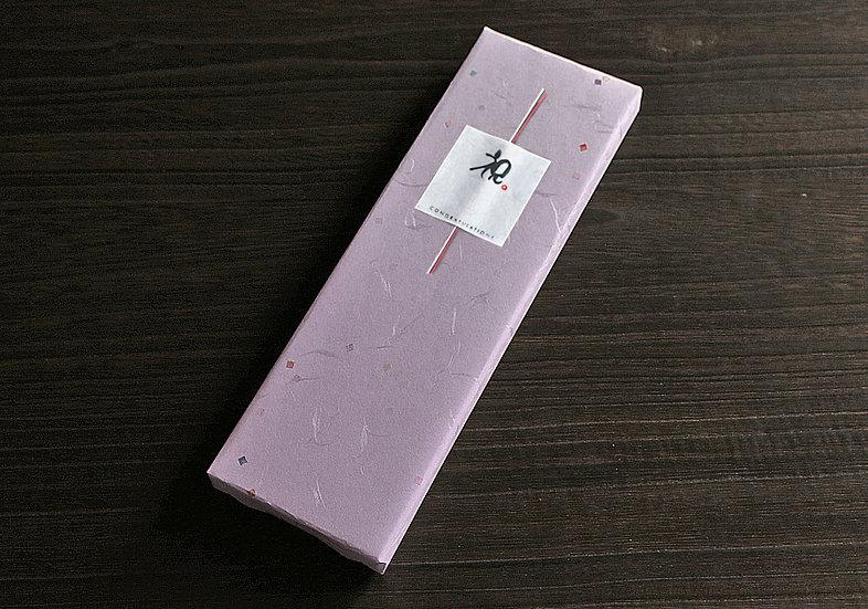 【ラッピング】紫越前和紙&シール