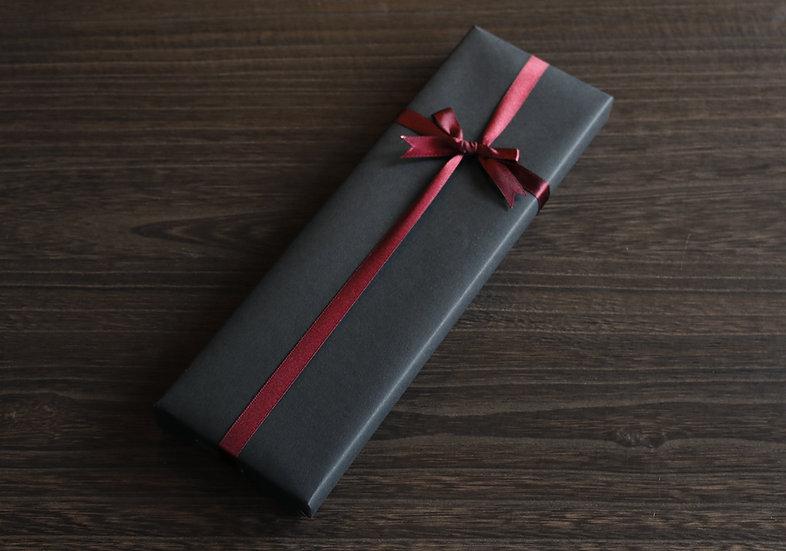 【ラッピング】黒タント紙&リボン
