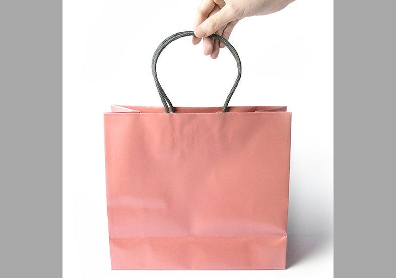 手提げ袋 メタルピンク