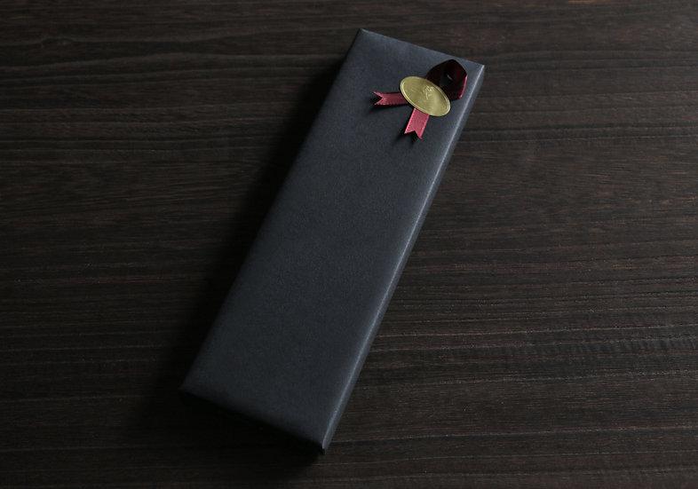 【ラッピング】黒タント紙&リボン金シール
