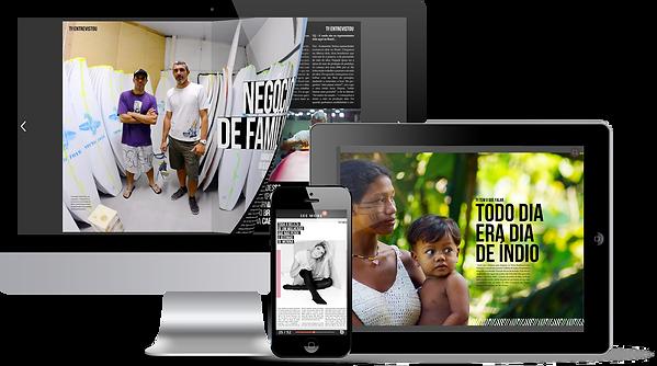 TU em monitor, celular e tablet