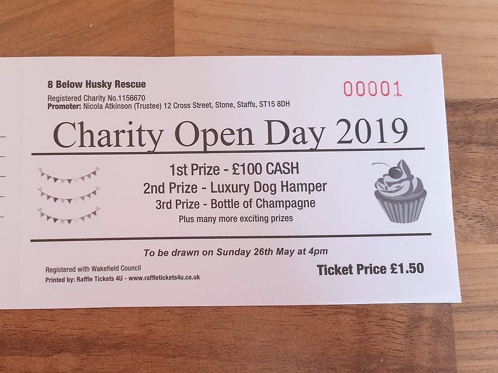 Charity Open Day 2019 Raffle Ticket