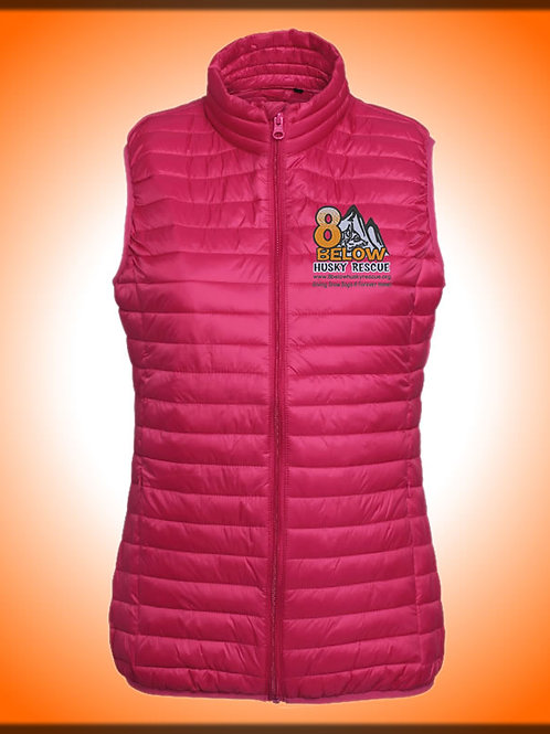 Female embroided Padded Gilet