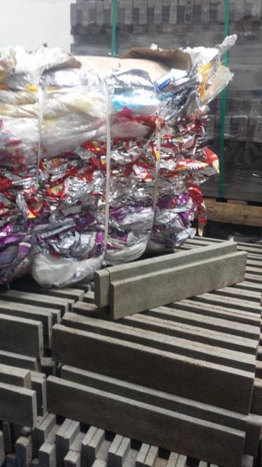Des emballages plastiques prêts à être recyclés. Photo publiée sur la page Facebook de Conceptos Plasticos.