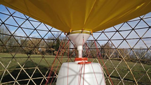 Le réservoir de la tour. Photo : Warka Water.