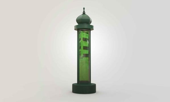 Cette colonne Morris va purifier l'air parisien (Crédit : Suez Environnement)