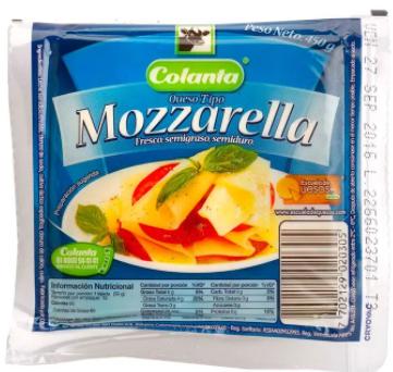 QUESO MOZZARELLA x450g-COLANTA