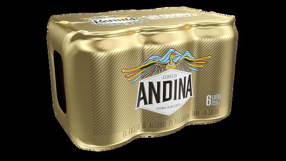 CERVEZA ANDINA SIXPACK 355ml x 6und