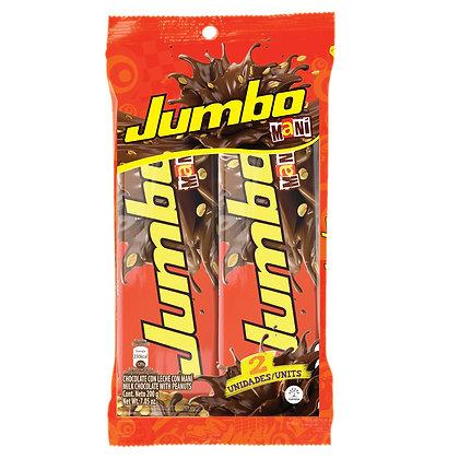 CHOCOLATINA JUMBO CON MANI 100g x 2und - JUMBO