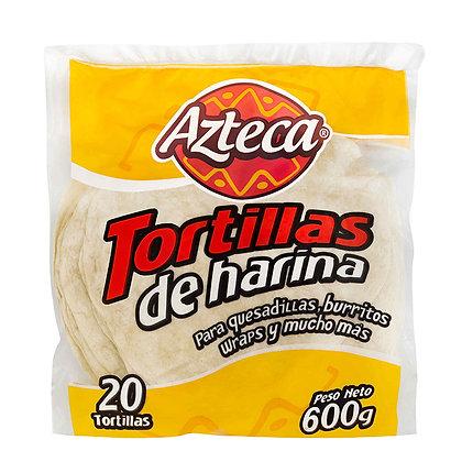 TORTILLA DE HARINA 600g x 20und - AZTECA