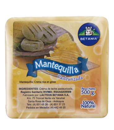 MANTEQUILLA PURA DE VACA x 500g - BETANIA