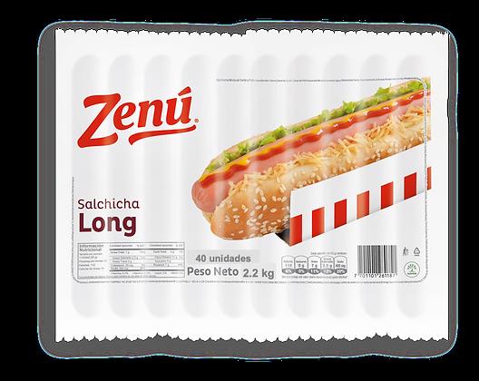 SALCHICHA LONG INSTITUCIONAL 2.2kg x 40und - ZENU