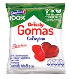 GOMAS GRISSLY COLAGENO x80g-COLOMBINA