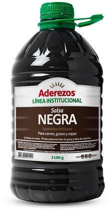 SALSA NEGRA GARRAFA x 3.1kg - ADEREZOS