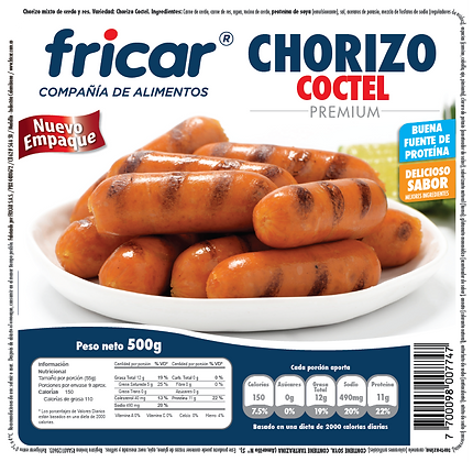CHORIZO COCTEL x 500g - FRICAR