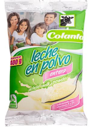LECHE EN POLVO x400g-COLANTA