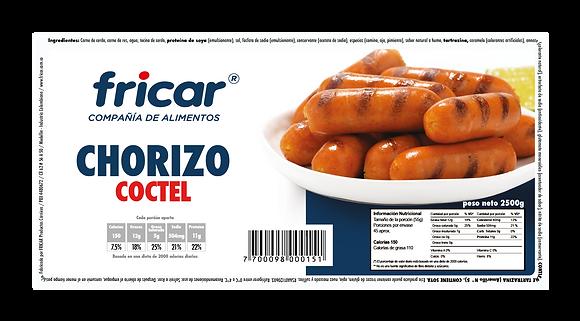 CHORIZO COCTEL INDUSTRIAL x 2500g - FRICAR