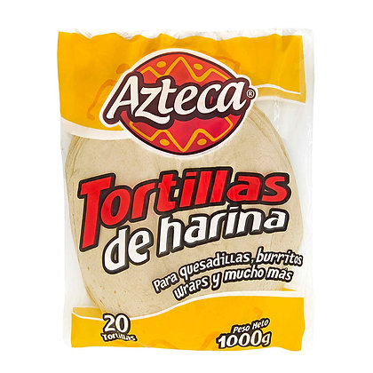 TORTILLA DE HARINA 1000g x 20und - AZTECA