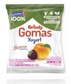 GOMAS GRISSLY YOGURT x80g-COLOMBINA