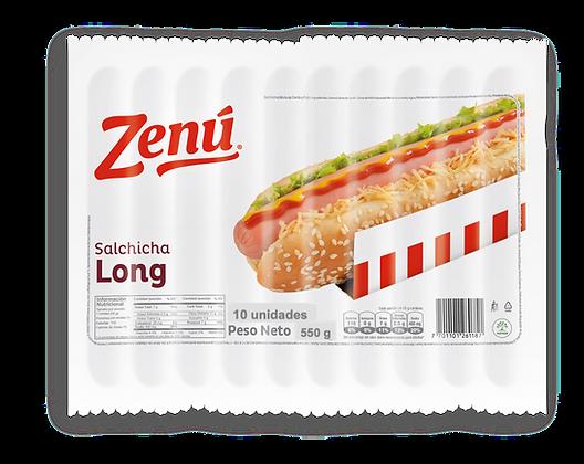 SALCHICHA LONG 550g x 10und - ZENU