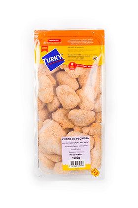 CUBOS DE PECHUGA DE POLLO APANADO CON PANKO x 1kg - TURKY
