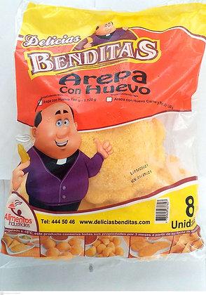 AREPA HUEVO SENCILLA 140gx8und-D.BENDITAS