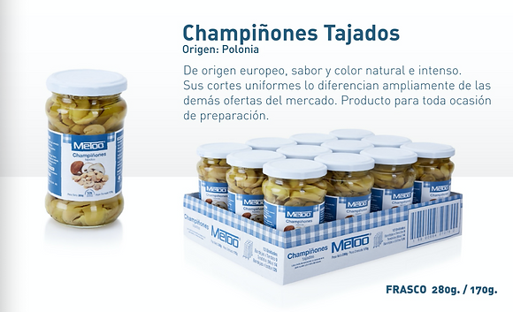 CHAMPINONES TAJADOS x 280g - METOO