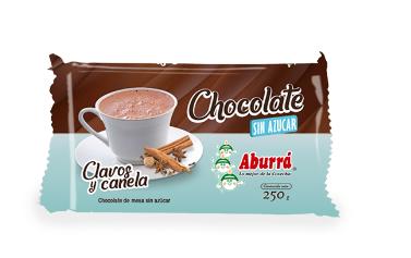 CHOCOLATE CLAVOS Y CANELA x 125g - ABURRA