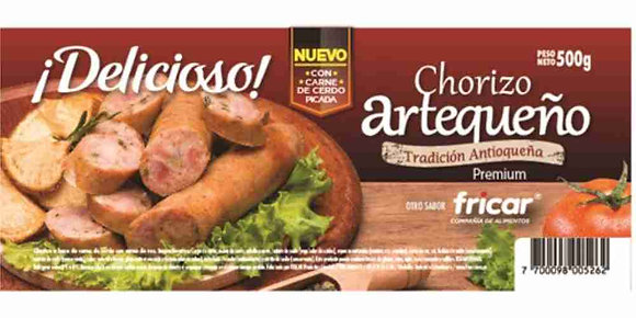 CHORIZO DE CERDO x 500g - FRICAR
