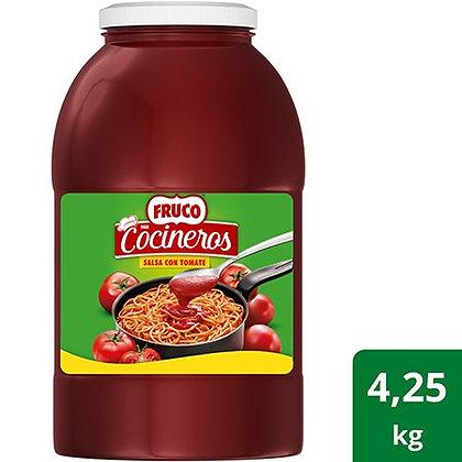 SALSA CON TOMATE COCINEROS GARRAFA x 4.25kg - FRUCO