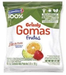GOMAS GRISSLY FRUTAS x80g-COLOMBINA