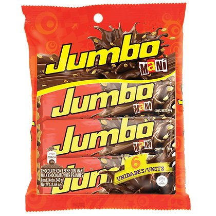 CHOCOLATINA JUMBO CON MANI 40g x 6und - JUMBO