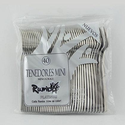 TENEDOR MINI PLATINUM x 40und - RUMBA