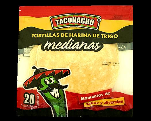 TORTILLA MEDIANA 20cm x20und-TACONACHO