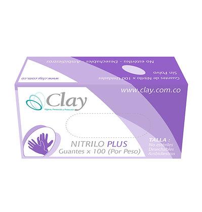 GUANTE NITRILO PLUS TALLA M x 100und - CLAY