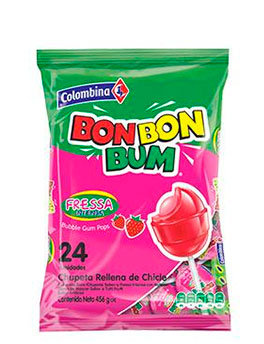 BON BON BUM FRESA INTENSA x 24und - COLOMBINA