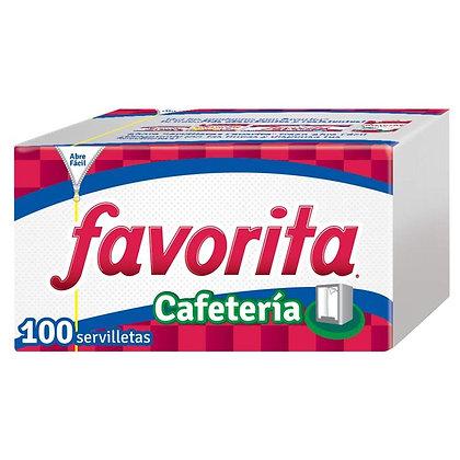 SERVILLETA CAFETERIA x 100und - FAVORITA