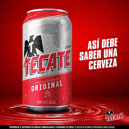 CERVEZA TECATE LATA 355ml