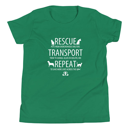 RESCUE-TRANSPORT-REPEAT Unisex Youth T-Shirt