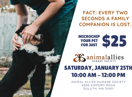 Microchip Clinic: Saturday, January 25th
