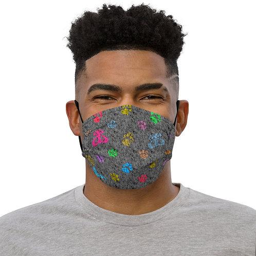 Designer Inspired Face Mask: Marble/Rainbow