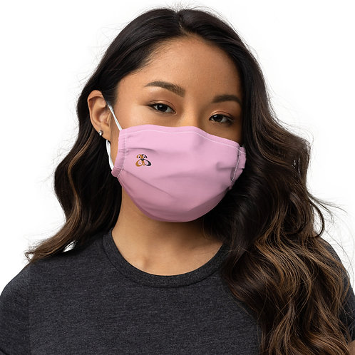 Gradient Pink Face Mask w/Logo