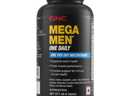 Recommended - GNC Mega Men One Daily Multivitamin - One Per Day - 60 Caplets