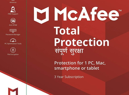 McAfee Total Protection (Windows / Mac / Android / iOS) - 1 User, 3 Years (Email Delivery in 2 hours