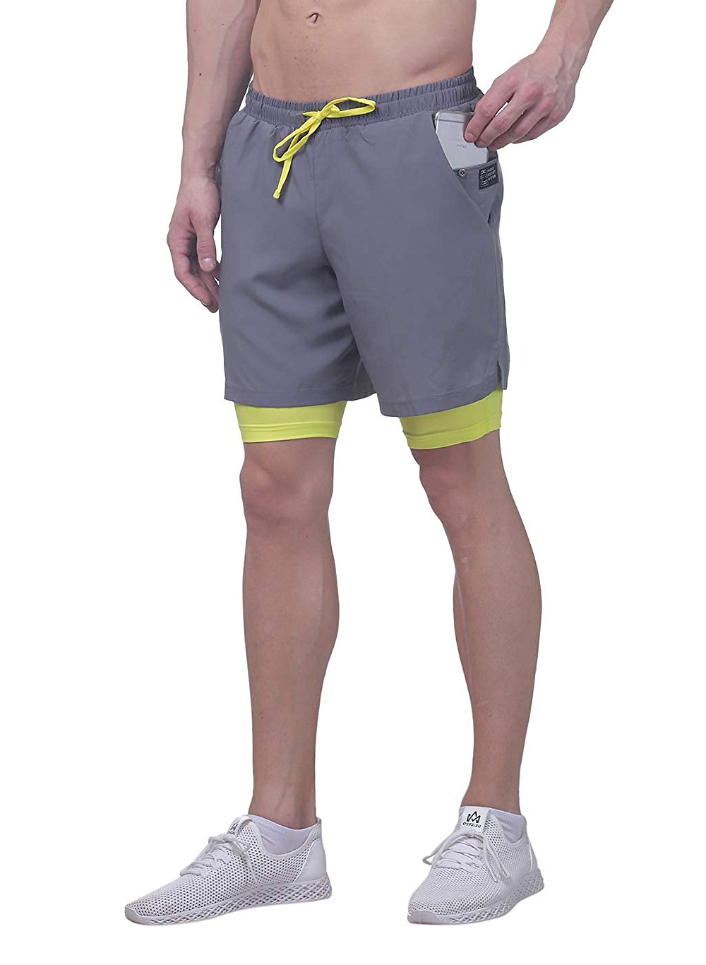 Revo TRUEREVO - Double Layered Sports Shorts with Phone Pocket for Men