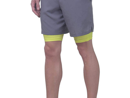 Recommended - Revo TRUEREVO - Double Layered Sports Shorts with Phone Pocket for Men