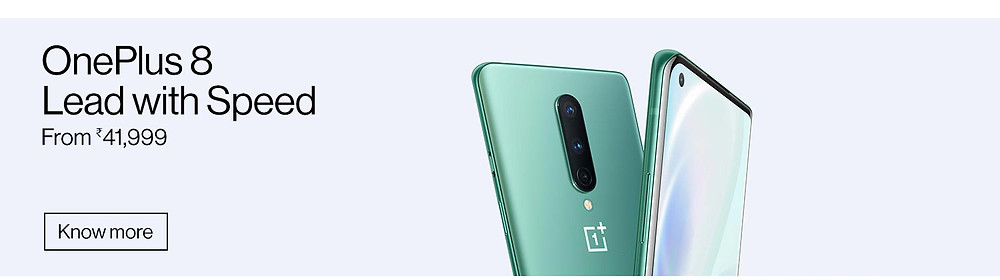 OnePlus 8 Lead with Speed