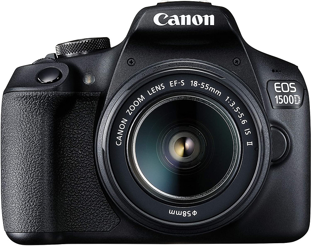 Canon EOS 1500D 24.1 Digital SLR Camera (Black)