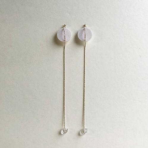 Paper pierced earring 14kgf 0045 WHITE